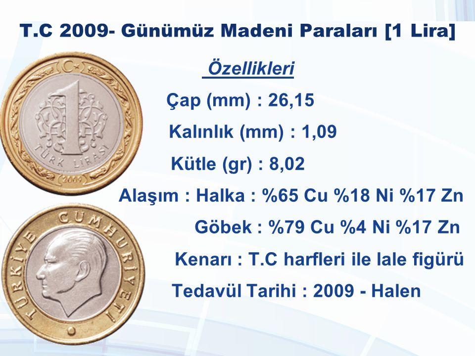 T.C 2009- Günümüz Madeni Paraları [1 Lira]